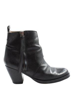 Acne Wciągane buty za kostkę czarny W stylu casual