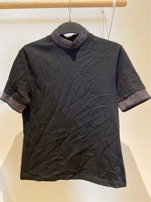 Acne Studios Koszulka z golfem czarny