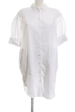 Acne Shirtkleid weiß Allover-Druck schlichter Stil
