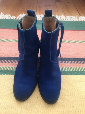 Acne Zipper Booties blue
