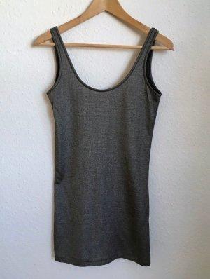 Acne Camiseta sin mangas color plata-negro