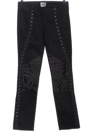 Acne Skinny Jeans schwarz extravaganter Stil