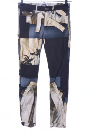 Acne Skinny Jeans abstract pattern casual look