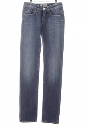 Acne Slim jeans donkerblauw-lichtblauw Jeans-look