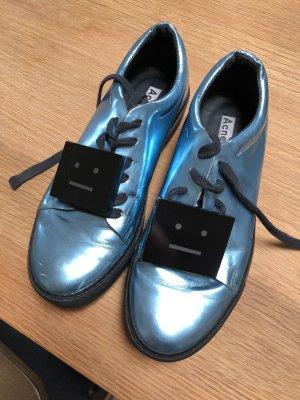 Acne Sneaker stringata blu cadetto