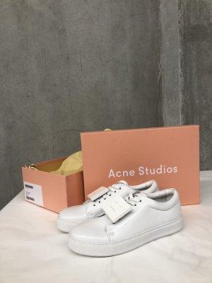 Acne Zapatilla brogue blanco