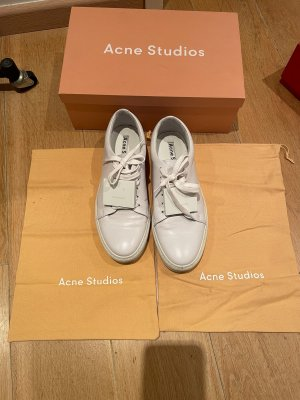 Acne Lace-Up Sneaker white leather