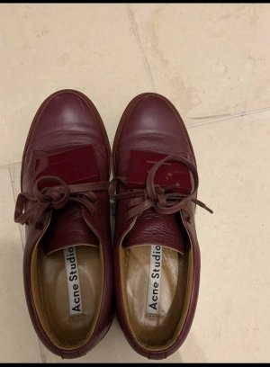 Acne Zapatilla brogue burdeos