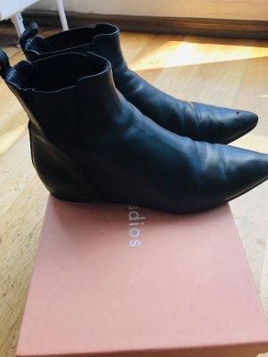 Acne Studios Wciągane buty za kostkę czarny Skóra