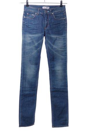 Acne Jeans met rechte pijpen blauw casual uitstraling