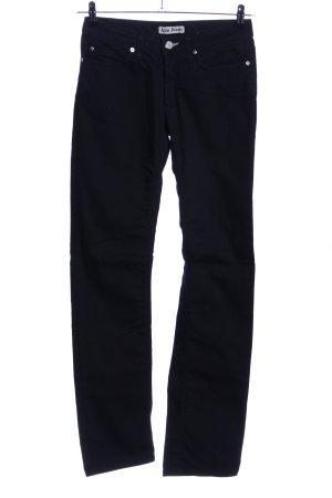 Acne Jeans met rechte pijpen zwart casual uitstraling