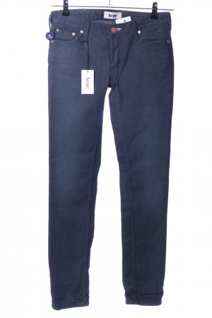Acne Straight Leg Jeans blue casual look