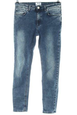 Acne Straight-Leg Jeans blau Casual-Look