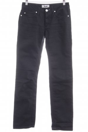 Acne Straight Leg Jeans black casual look