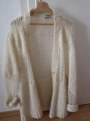 Acne Studios Cardigan a maglia grossa bianco-bianco sporco