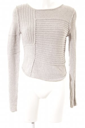Acne Knitted Sweater grey-light grey flecked casual look