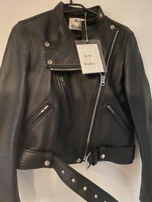 Acne Studios Skórzana kurtka czarny