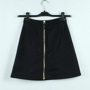 Acne Studios Wełniana spódnica czarny-złoto Tkanina z mieszanych włókien