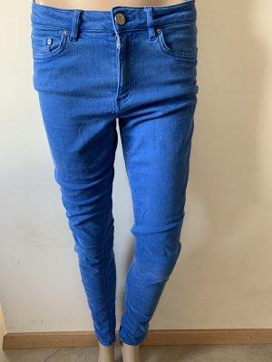 Acne Studios Jeansy o obcisłym kroju niebieski neonowy