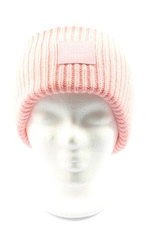 Acne Studios Cappello a maglia rosa punto treccia stile casual