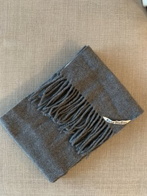 Acne Bufanda de lana gris-gris oscuro