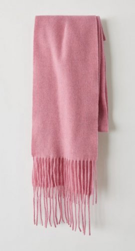 Acne Woolen Scarf pink wool