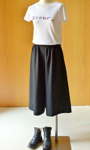 Acne Studios Culottes black polyester