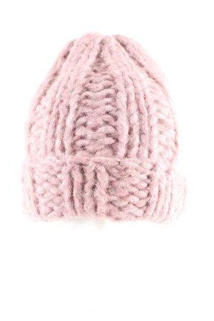 Acne Studios Gehaakte muts roze kabel steek casual uitstraling