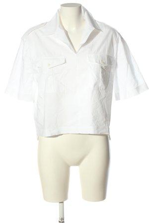 Acne Studios Koszulowa bluzka biały W stylu casual