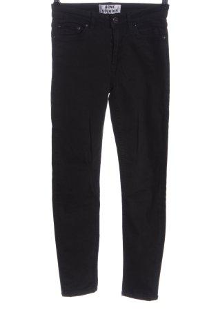 Acne Studios Spodnie z wysokim stanem czarny W stylu casual