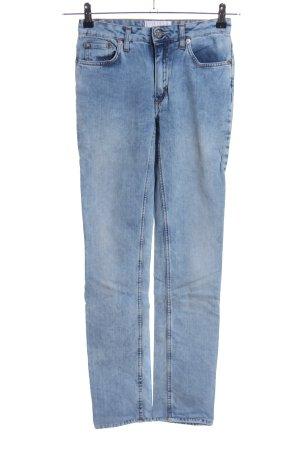 Acne Studios Jeansy z wysokim stanem niebieski W stylu casual
