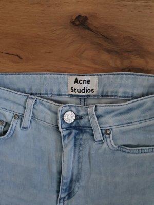 Acne Skinny jeans azuur Katoen