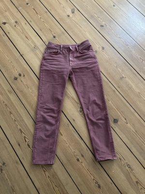 acne jeans 7/8-jeans roségoud Katoen