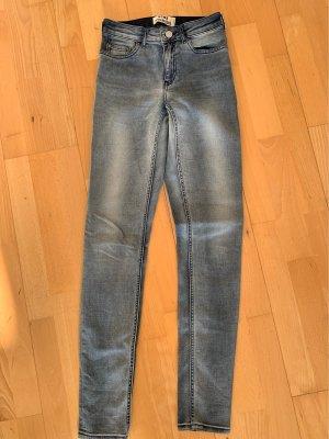 Acne Studios Jeansy rurki błękitny Elastan