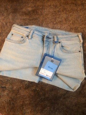 Acne Skinny Jeans pale blue cotton