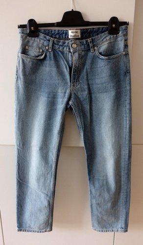 Acne Studios Jeansy z prostymi nogawkami błękitny-stalowy niebieski Bawełna