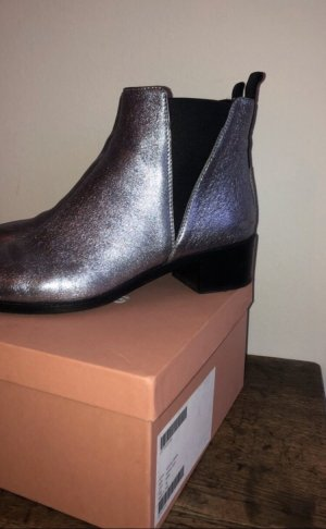Acne Chelsea Boots silver-colored leather