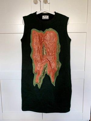 Acne Studios Vestido tipo jersey verde oscuro Algodón