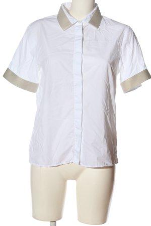 Acne Studios Koszula z krótkim rękawem biały-kremowy W stylu biznesowym