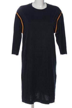Acne Studios Sukienka z długim rękawem czarny-jasny pomarańczowy
