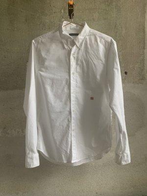 Acne Studios Koszula z długim rękawem biały-różowy Bawełna