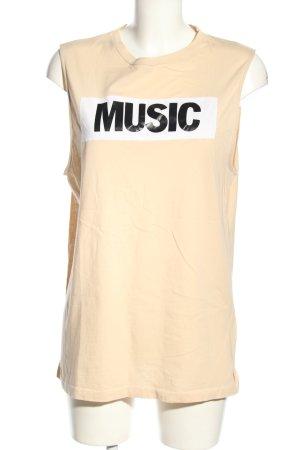 Acne Studios Długi top kremowy Wydrukowane logo W stylu casual