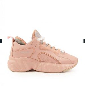 Acne Sneakers met veters stoffig roze Leer