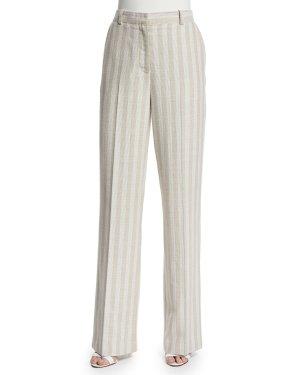 Acne Pantalon à pinces multicolore