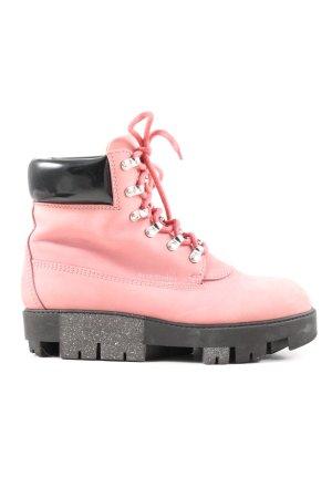 Acne Studios Buty z krótką cholewką na platformie różowy W stylu casual