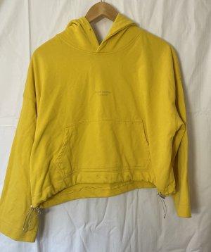 Acne Studios Sweter z kapturem żółty-złotopomarańczowy Bawełna