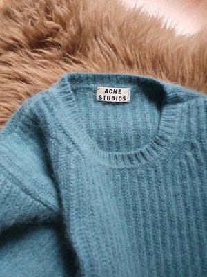 Acne Studios Wełniany sweter morski Angora