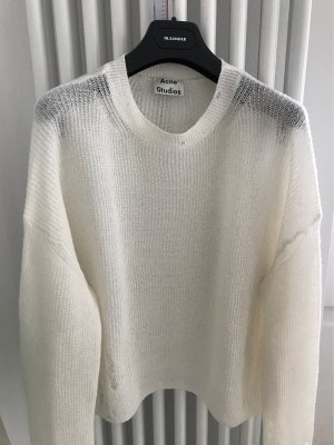 Acne Oversized Sweater natural white