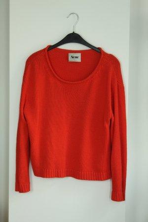 Acne Studios Sweter z dzianiny czerwony Bawełna