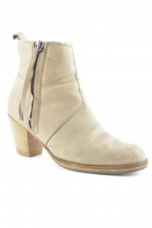 Acne Zipper Booties grey brown casual look